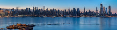 The Morning Blues (Gary Walters) Tags: weehawkenmood water gary walters city cityscape panorama sel55f18z morning bluehour longexposure nyc a7r2 hudsonriver a7r ii skyscraper skyline sonya7r2 sony a7rii garywalters