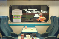British Rail Travelers Fare (Tony Worrall) Tags: caught photo shoot shot picture captured relic old inside train railway eat fare seats empty national museum rail pack package tea but sell sold travel nationalrailwaymuseumyork york yorkshire window olden past items english british britishrail