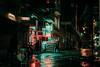Istanbul (elsableda) Tags: istanbul turkiye turkey night midnight nightscape neon lights signs sign street rain winter reflection