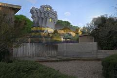 Video Game Neighborhood Series: Minecraft (Airbornebovine) Tags: photoshop landscape videogames videogame neighborhood outdoor outdoors newmexico house minecraft castle