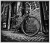 The bike (gripenphoto) Tags: prague praha prag czech fujixt20 fujilove fujix fujifilm fuji travel city bnw blackandwhite bw samyang12mm samyang12 samyang wideangle europe dramatic love bike pub