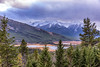 Vermilion Lakes, Banff (aud.watson) Tags: canada canadianrockies alberta banffnationalpark banff banffviewpoint snowpeak mountain mountains valley forest wood conifers sky cloud clouds town snow ca vermilionlakes