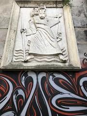 Graffiti and Religion (katerinaj21) Tags: portugal lisbon religion religious graffiti spraypaint art controversy irony