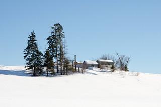 Bâtiments de ferme à Ste-Blandine.