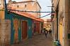 Lisbon : Travessa do Almargem (Pantchoa) Tags: lisbonne portugal alfama vieuxquartier ruelle almargem retaurant peintures murs guirlandes fête rue traverse traversealmargem
