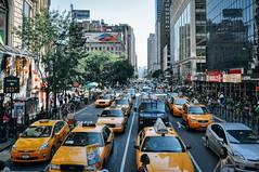 Taxis in Herald Square (rjdibella) Tags: usa heraldsquare manhattan newyorkcity newyork 2012 manhattanmall taxi summer nyc