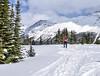Bow summit and Peyto Canadian Rockies (gri_mountainlakes) Tags: peytolake banffnationalparkwinter banffnationalpark randonneur hiker bowsummit