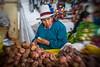 Potato vendor in the Mercado Central de San Pedro - Cusco, Peru. (mckinnon949) Tags: cusco cuzco peru pe lensbaby sweet 35 optic