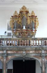 St. Johannes Baptista et St. Aquilinus, Untereßfeld (palladio1580) Tags: orgel organ orgue organo kirche barock bayern franken unterfranken landkreisrhöngrabfeld unteresfeld