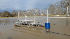 Mingo Park flooding April 2018 (dankeck) Tags: bleachers stands trashcan hocking hockingcounty flood flooding highwater park mingo mingopark loganohio ohio