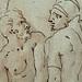 PRIMATICE - Triptyque, Trois Hommes, un Mulet et un Âne auprès d'un Chargement (drawing, dessin, disegno-Louvre INV8574) - Detail 15