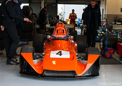 Number 4 (joao_gomes85) Tags: 4 silverstone historic festival may 2017 orange black old classic car race single seater