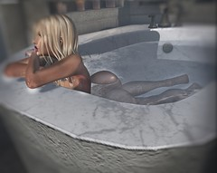 The quiet scares me 'cause it screams the truth... (ᵛ Mσяgαη Ɗ'Aмσяє ᵛ) Tags: avatar avatars secondlife life second virtual love bento maitreya appliers pose pixels photgraphy blur bath bentolove sl catwa wet