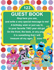 Sesame Street Guest Book Sign (maddieandmarry) Tags: elmo 2nd birthday party sesamestreet guestbook sign friends polkadots