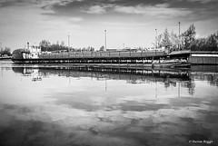 Humber Princess. (I'mDKB) Tags: imdkb march 2011 goole eastyorkshire barge industrial canal nikond80 1685mm 1685mmf3556ged airecalder navigation knottingleygoolecanal monochrome blackandwhite bw johnhwhitakerltd hull
