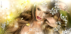 Иαтαѕнα 🌻 Gold! The first Spring sun 🌻 (AyE ღ I'м α vιѕιoɴΛЯT) Tags: digitalart digitalpainting digitalportrait digitalfantasy painting artworks portraits beauty illustrations artportrait ritratto retrato portrature dreamy vision magical emotionalart emotional butterfly butterflies natashawrydan
