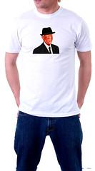 Leonard Cohen White T shirt (sam-vasilevsky.squarespace.com) (Sam Vasilevsky) Tags: samvasilevsky vasilevsky artprints art prints leonardcohen 2017 poet musician montreal canada canadian rabbi cabbala halleluya jew red fedora songwriter takethiswaltz