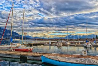 Hiver sur le port - Le bourget du lac - Savoie (2018)