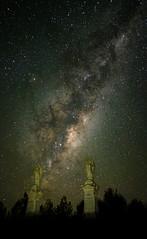 Gemini (ajecaldwell11) Tags: xe3 statue newzealand milkyway ankh astrophotography stars stoneangel sky stoneangels horowhenua caldwell fujifilm light