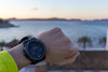 Smartwatch showing sunrise, sea in the backgroung (marcoverch) Tags: peguera illesbalears spanien es smartwatch showing sunrise seabackground outdoors drausen beach strand travel reise sky himmel nature natur landscape landschaft people menschen water wasser sand sea meer summer sommer fairweather schöneswetter sunset sonnenuntergang seashore recreation erholung man mann lake see one ein adult erwachsene ocean ozean painting rural pattern locomotive mar italia digital bus weather happy