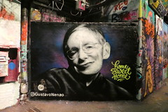 RIP Stephen Hawking (duncan) Tags: stephenhawking graffiti leakestreet gustavonénão nenao 3000v120f