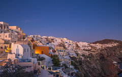 Blue hour in Oia (Vagelis Pikoulas) Tags: blue hour oia santorini greece cyclades kyklades island islands holidays holiday travel photography landscape cityscape city urban town view light lights lightroom colour colors colours color village winter january 2018 tokina 1628mm canon 6d
