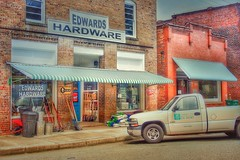AT THE HARDWARE STORE (NC Cigany) Tags: awardtree rural yesterday store nc hardware sidewalk street truck vass