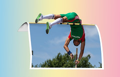 Over the Top ......... (ClaraDon) Tags: photoshop manipulation fantasy oob polevault athlete outofbounds