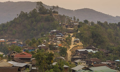 shan village (cih94) Tags: myanmar shan state kyaukme township village mountains sunset wooden houses jungle