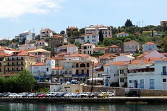 Pylos waterfront view IMG_7523 (mygreecetravelblog) Tags: greece peloponnese messenia messinia pylos navarino town outdoor landscape waterfront harbour harbourfront seafront architecture buildings