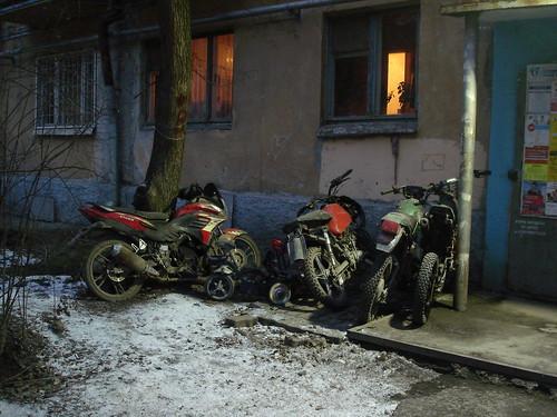 Коллекция мотоциклов без моторов