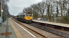 66957 Stephenson Locomotive Society 1909 - 2009 (uktrainpics) Tags: 66957 stephenson locomotive society 1909 2009 class 66 westerfield