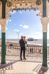 Fun times by the West Pier, Brighton (Zoë Power) Tags: westpier bandstand beach uk brighton derelict blueskies coast sea seaside