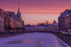 Violet evening (Vladimir Serebryanko) Tags: sanktpeterburg stpetersburg evening ice river violet winter санктпетербург вечер зима лед река