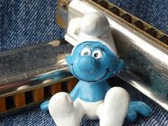 How Blue Can You Get? (captain_joe) Tags: theblues macromondays schlumpf smurf blues hohner harp mundharmonika