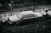 Let it snow (kuguar.filozof) Tags: kuguar filozof black white car snow winter old poland vechickle warsow wind snowing