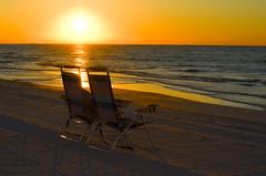 Getting Ready (photographyguy) Tags: destin morning gulfofmexico sunrise beachchairs waves serenity florida floridapanhandle ocean horizon