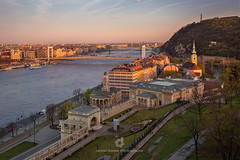 View of Budapest from the Castle Garden (fesign) Tags: alexandriaiszentkatalintemplom architecture budapest buildingexterior buildings capitalcities church city colourimage connection dusk europe gellerthill heritage hill horizontal hungary libertybridge libertystatue mountain nauticalvessel nopeople oldtown outdoors panoramic photography riverdanube sunset suspensionbridge traditionallyhungarian travel traveldestinations unesco waterfront