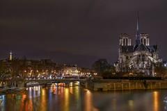 Paris in colors (karinavera) Tags: city longexposure night photography cityscape urban ilcea7m2 church paris color notredame