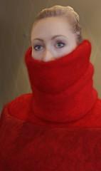 Fluffydoll127 (Triss Meredith) Tags: misstriss fluffydoll wool angora mohair scarf turtleneck sweater
