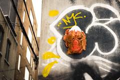 Graffiti Alley - Snow (Katherine Ridgley) Tags: toronto rushlane alley graffiti graffitialley city downtown urban streetphotography streetart street art artspace tag tagging tagged snow winter cold weather slush falling fallingsnow