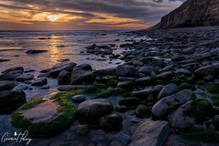 Dunraven Bay (geraintparry) Tags: southerndown dunraven bay bridgend sunset sunsets sky skies cloud clouds south wales sea seas water ocean exposures rock rocks seascape landscape landscapes seascapes coast shore orange warm seaside beach outdoor geraint parry geraintparry