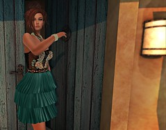 Leave (kare Karas) Tags: woman lady femme girl girly sweet cute beauty sensual seduce seductive outdoors house virtual avatar secondlife events game fun mesh bento pretty gorgeous chic dress jewelry poses makeup posesion neojapanevent liziaah moondanceboutique dulcesecrets designershowcaseevent