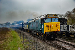 50008 + 31271 - Wansford - 08/04/18. (TRphotography04) Tags: british rail br blue english electric type 4 50008 thunderer 31271 stratford 1840 2001 rumble out wansford nene valley railway working 1420 peterborough taken during spring diesel gala 2018