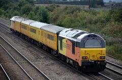 67023 67027 bb Cossington 240817 D Wetherall (MrDeltic15) Tags: colas class67 67023 networkrail testtrain 67027 cossington midlandmainline