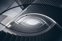 Eye of Knowledge (Bunaro) Tags: eye knowledge porthania university helsinki finland suomi yliopisto staircase staring up abstract symmetry architecture