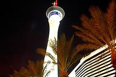 Stratosphere Hotel (EmperorNorton47) Tags: lasvegas nevada photo digital winter night tower palmtrees hotel stratosphere