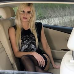 Elli (juergenberlin) Tags: car shooting blond beauty sexy girl woman long hair nylon