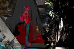 Encrucijada (seguicollar) Tags: imagencreativa photomanipulación art arte artecreativo artedigital virginiaseguí hombre figura humano edificios casas ventanas árbol tronco mochila
