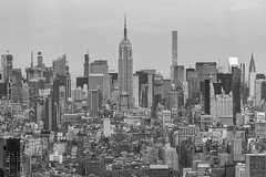 Empire State Building (JMFusco) Tags: urban building manhattan nyc newyorkcity chryslerbuilding buildings empirestatebuilding newyorkstate blackandwhite newyork ny